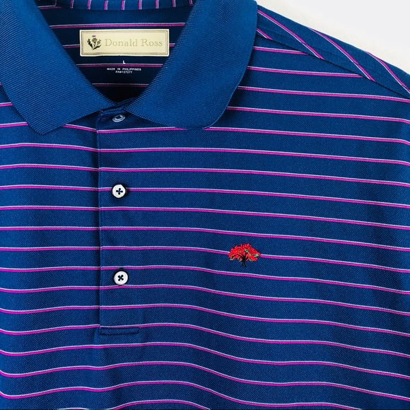 donald ross Other - Donald Ross men's blue striped golf polo Large